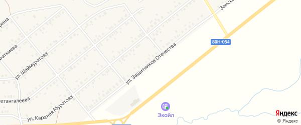 Улица Защитников Отечества на карте села Стерлибашево с номерами домов