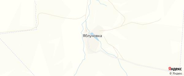 Карта деревни Яблуновки в Башкортостане с улицами и номерами домов