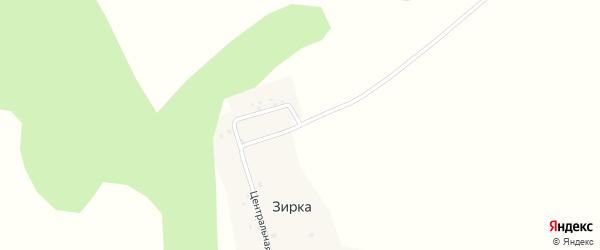Центральная улица на карте деревни Зирки с номерами домов