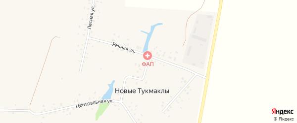 Речная улица на карте села Новые Тукмаклы с номерами домов