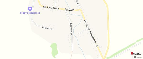 Садовая улица на карте села Акуди с номерами домов