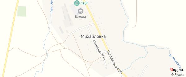 Октябрьская улица на карте села Михайловки с номерами домов