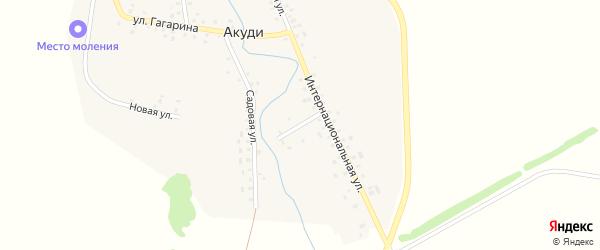Первомайский переулок на карте села Акуди с номерами домов