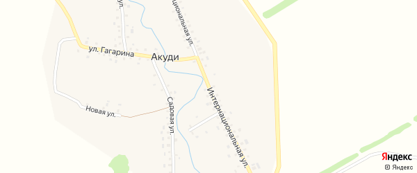 Интернациональная улица на карте села Акуди с номерами домов