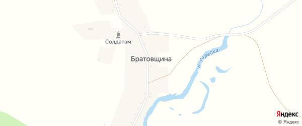 Улица Ленина на карте села Братовщины с номерами домов