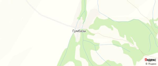 Карта деревни Гумбазы в Башкортостане с улицами и номерами домов