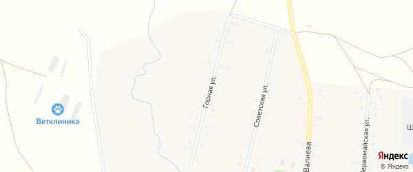 Горная улица на карте села Старогумерово с номерами домов
