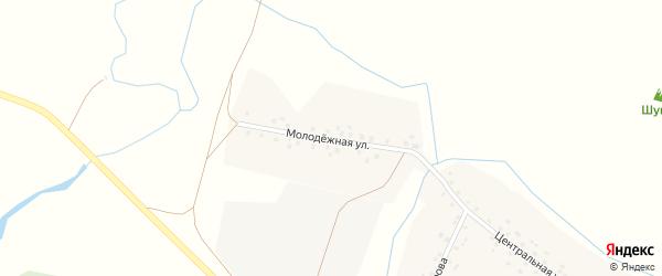 Молодежная улица на карте села Актуганово с номерами домов