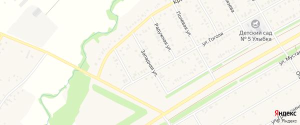 Западная улица на карте села Кушнаренково с номерами домов