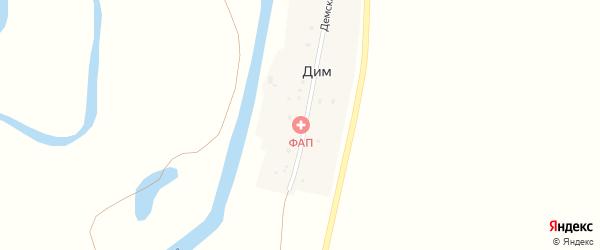 Демская улица на карте деревни Дима с номерами домов