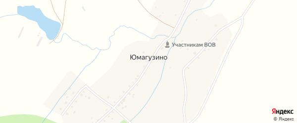 Полевая улица на карте деревни Юмагузино с номерами домов