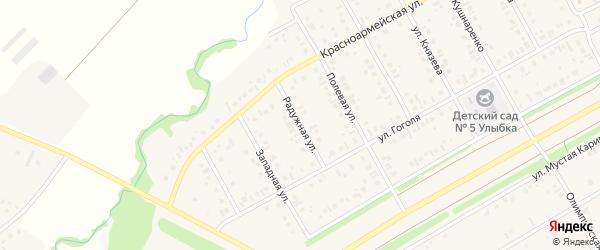 Радужная улица на карте села Кушнаренково с номерами домов