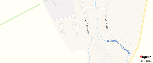 Улица Мусы Джалиля на карте села Балыклы с номерами домов