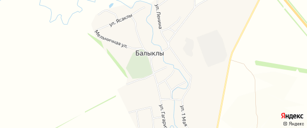 Карта села Балыклы в Башкортостане с улицами и номерами домов