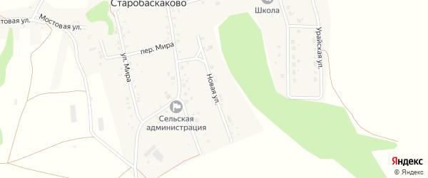 Новая улица на карте деревни Старобаскаково с номерами домов