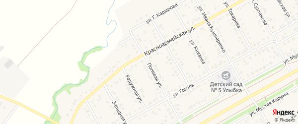 Полевая улица на карте села Кушнаренково с номерами домов