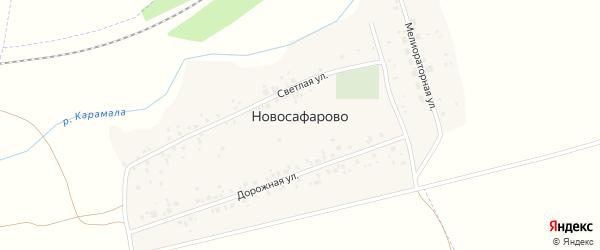 Переулок Мелиораторов на карте деревни Новосафарово с номерами домов