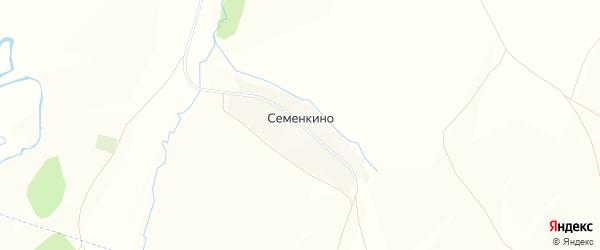 Карта деревни Семенкино в Башкортостане с улицами и номерами домов