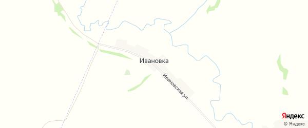 Карта деревни Ивановки в Башкортостане с улицами и номерами домов