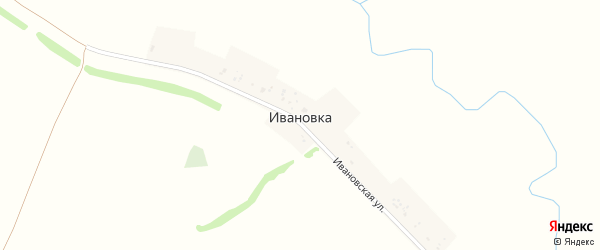 Ивановская улица на карте деревни Ивановки с номерами домов
