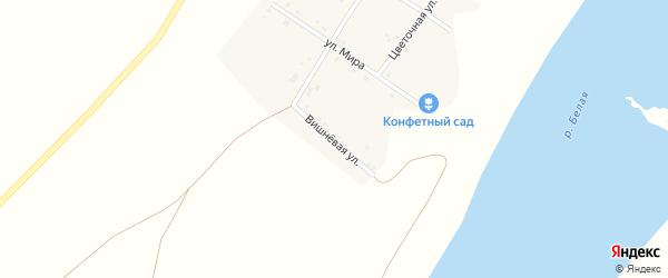Вишневая улица на карте деревни Староежово с номерами домов