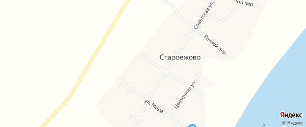 Российская улица на карте деревни Староежово с номерами домов