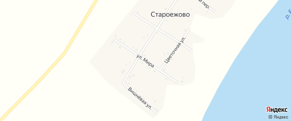 Улица Мира на карте деревни Староежово с номерами домов