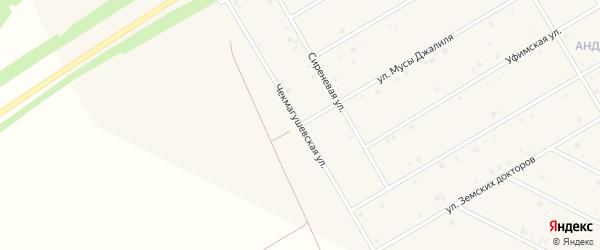 Чекмагушевская улица на карте села Кушнаренково с номерами домов