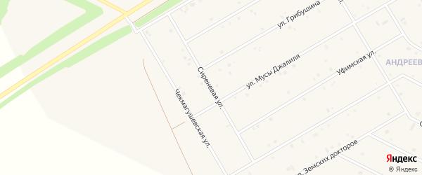 Сиреневая улица на карте села Кушнаренково с номерами домов