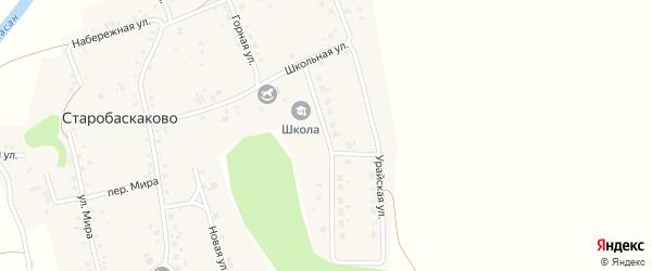Урайская улица на карте деревни Старобаскаково с номерами домов