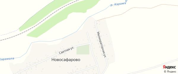 Светлый переулок на карте деревни Новосафарово с номерами домов