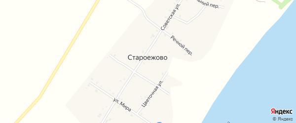 Привольный переулок на карте деревни Староежово с номерами домов