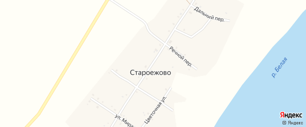 Советская улица на карте деревни Староежово с номерами домов