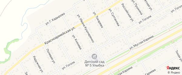 Улица И.Кушнаренко на карте села Кушнаренково с номерами домов