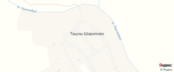 Речная улица на карте села Ташлы-Шарипово с номерами домов