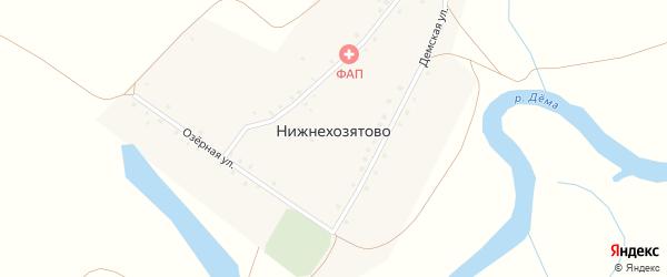 Новая улица на карте деревни Нижнехозятово с номерами домов