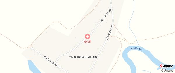 Улица Хасанова на карте деревни Нижнехозятово с номерами домов