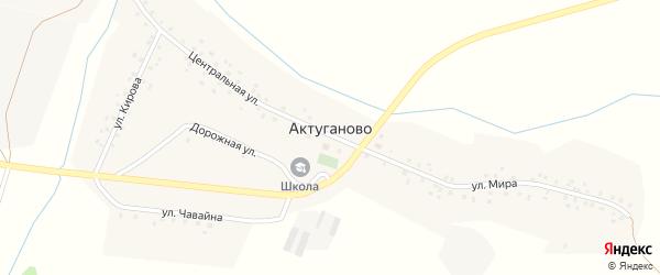 Полевая улица на карте села Актуганово с номерами домов