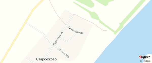 Дальний переулок на карте деревни Староежово с номерами домов