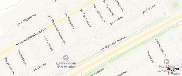 Улица Гоголя на карте села Кушнаренково с номерами домов