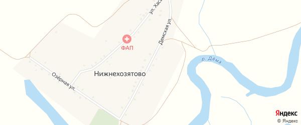 Демская улица на карте деревни Нижнехозятово с номерами домов