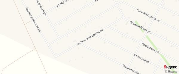 Улица Земских докторов на карте села Кушнаренково с номерами домов