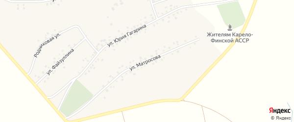 Улица А.Матросова на карте села Максимово с номерами домов