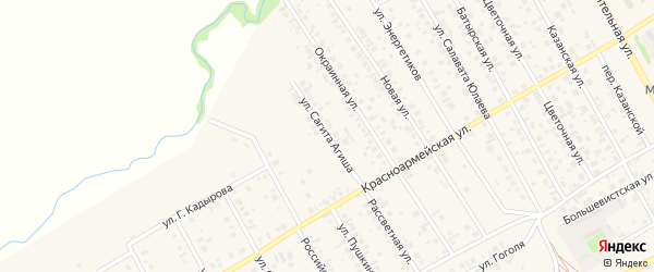 Улица Сагита Агиша на карте села Кушнаренково с номерами домов