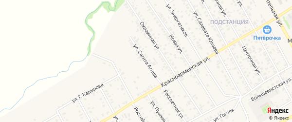 Переулок Сагита Агиша на карте села Кушнаренково с номерами домов