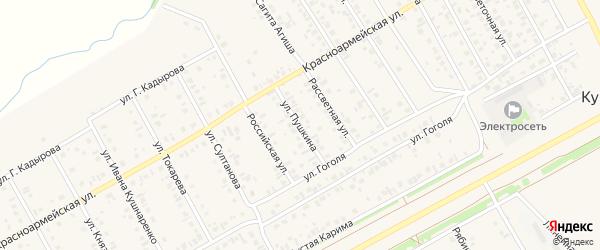 Улица Пушкина на карте села Кушнаренково с номерами домов