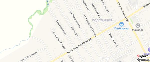 Новая улица на карте села Кушнаренково с номерами домов