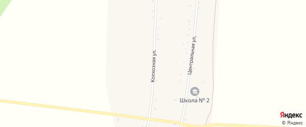 Колхозная улица на карте деревни Игнатовки с номерами домов