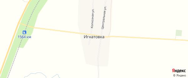 Карта деревни Игнатовки в Башкортостане с улицами и номерами домов