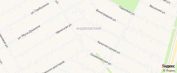 Архитектурная улица на карте села Кушнаренково с номерами домов